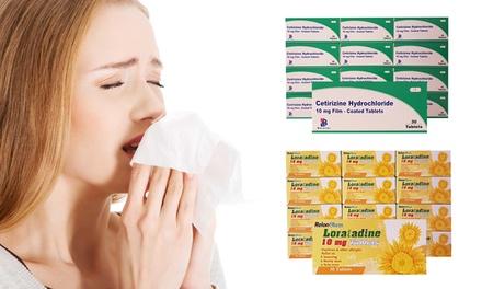 12Month Supply of Loratidine or Cetirizine Antihistamine Tablets