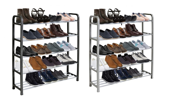 One or Two Heavy Duty Metal Shoe Racks