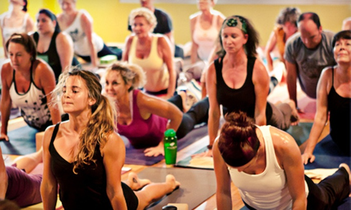 Dancing Dogs Yoga - Multiple Locations: 5 or 10 Classes at Dancing Dogs Yoga (Up to 71% Off)