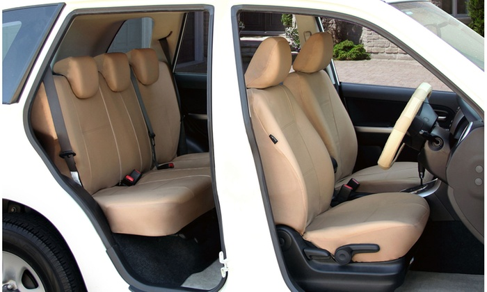 Premium PU Leather Full Set Car Seat Covers