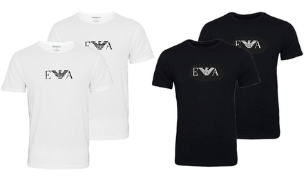 Two-Pack of Emporio Armani Mens T-Shirts in Choice of Colour and Size