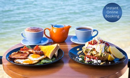 Breakfast or Lunch with Tea or Coffee for Two ($25) or Four People ($49) at Sunset Pier Cafe (Up to $91.80 Value)