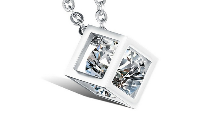 10a7a0216b4 Sterling Silver Floating Pendant Necklace Made with Swarovski Elements