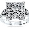 0.5 CTTW Vintage Diamond Ring in 10K White Gold