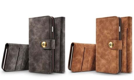 Funda-cartera para iPhone 2 en 1 con cáscara extraíble