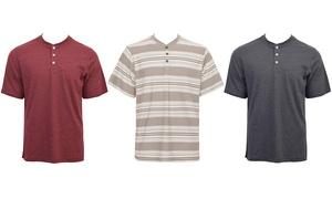 Men's Short-Sleeve Henley Tee (3-Pack)