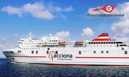 Bono de hasta 230 € de descuento en ferry de Gandía a Ibiza o Palma con opción de coche a bordo con Trasmediterránea