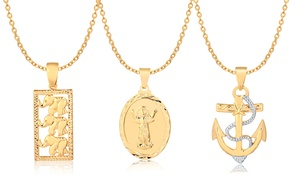 18K Gold Plated Pendant Necklaces by Euphir