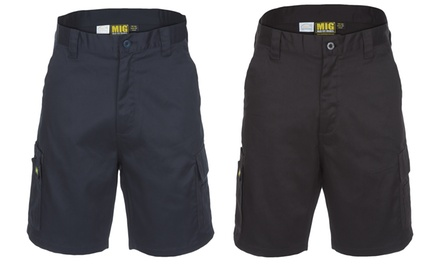 Black or Navy Mens Cargo Work Shorts