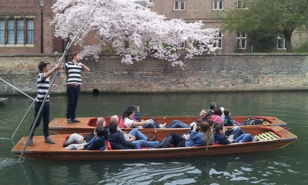 45Minute ChauffeurGuided Weekday or Weekend Cambridge Punting Tour for One or Two from The Cambridge Punting Company