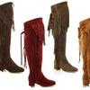 Lady Godiva Janet Women's Over-the-Knee Fringe Boots