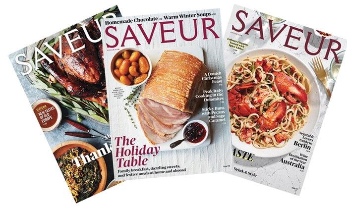 "Blue Dolphin Magazines: $15 for a One-Year, Nine-Issue Subscription to ""Saveur"" Magazine from Blue Dolphin Magazines ($19.95 Value)"