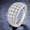 1/2 CTTW Diamond Anniversary Ring in Sterling Silver by DiamondMuse