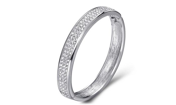Mestigé / SARROFF DESIGNS PTY Ltd Bracelet Jonc orné de 114 cristaux  Swarovski® Elements