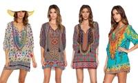 1 ou 2 robes Kaftan Boho Chic, modèle et taille au choix, dès 16,99€