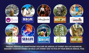 Merlin Entertainments: Annual Pass to 11 Top Attractions for 1 Person ($89) or Family of 4 ($260) - Sydney Pick-Up Only