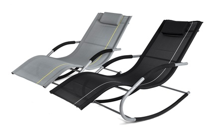 Black or Grey Homekraft Jawa Rock Lounger With Free Delivery