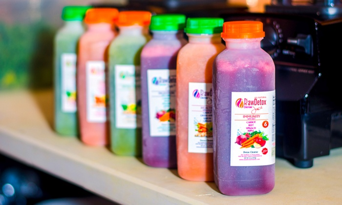 Raw Detox Cleanse - In-Store Pickup: One- or Three-Day Organic Juice Cleanse from Raw Detox Cleanse