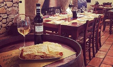 Degustazione vini e prodotti tipici a 16,90euro