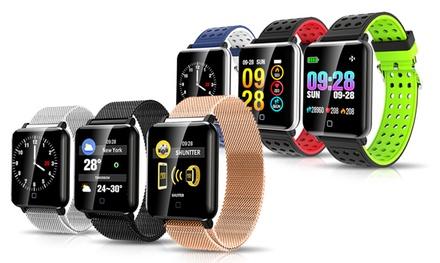 1 o 2 relojes inteligentes M19 con correa de silicona o de acero inoxidable