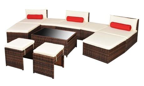 Set de sofás de jardín modulares vidaXL