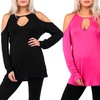 Women's Cold-Shoulder Tops (3-Pack)