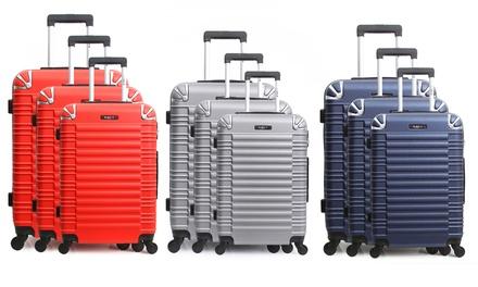 Set 3 valises en ABS avec pèse bagage offert, modèle Lima