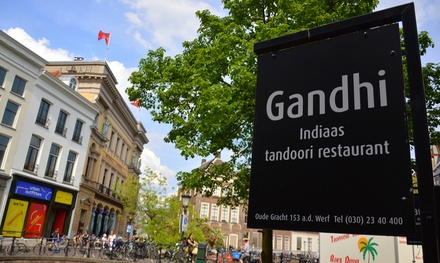 Indiaas hoofdgerecht à la carte voor 2, 3 of 4 personen bij restaurant Gandhi in hartje Utrecht