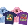 KidTeez What Does the Fox Say Kids' T-Shirt and Hoodie Set