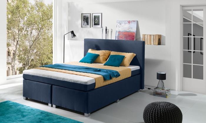 sommier avec matelas niko ressorts ensach s groupon. Black Bedroom Furniture Sets. Home Design Ideas
