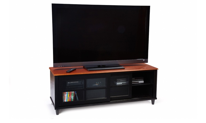 Black And Cherry Tv Stand Groupon Goods