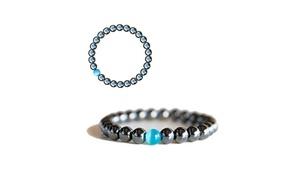 Bracelet hématite perle opale