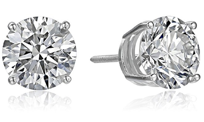1 2 Cttw Lab Grown Diamond Stud Earrings In 14k White Gold