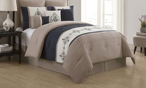 Mansfield Embroidered Comforter Set (9-Piece)
