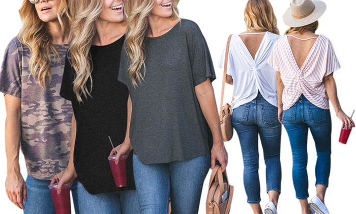2df0e21cd Up To 71% Off on Reflection Women's Top   Groupon Goods