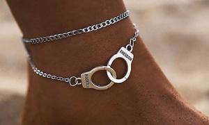 1 ou 2 bracelets de cheville double chaînes