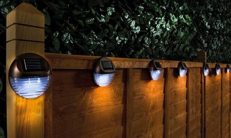 Hasta 8 luces solares para vallas