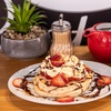 Waffle or Pancakes + Hot Drink
