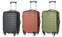 Groupon.com deals on Wrangler 20-inch Expandable Hardside Carry-On Luggage w/USB Port