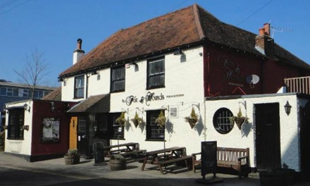 Two-Course Meal with a Glass of Wine for Two or Four at Fox & Hounds Pub (Up to 52% Off)