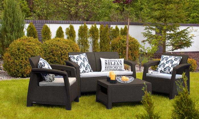 Sets de sof mesa y sillones para terraza y jard n for Sillones jardin baratos
