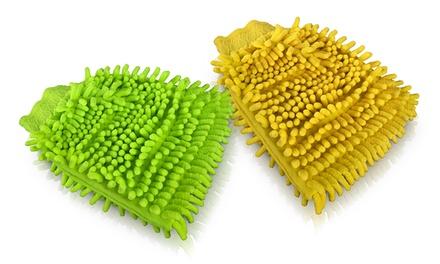 1 o 2 guantes de microfibra para coche