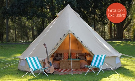 Sydney Region, Glenworth Valley: 1-3 Nights Glamping in a European Bell Tent + Bottle of Wine + Linen with Nomadic Belle