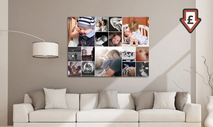 personalised collage canvas print groupon goods