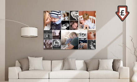 Personalised Collage Canvases Print from £2.95