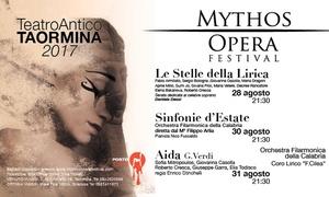 Mythos Opera Festival - Teatro Antico di Taormina: Mythos Opera Festival - dal 28 al 31 agosto al Teatro Antico di Taormina (sconto fino a 44%)