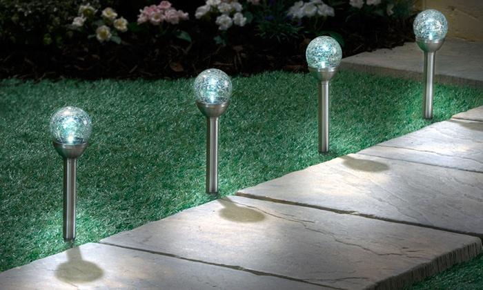 Luci solari a led da giardino groupon goods - Illuminazione da giardino solare ...