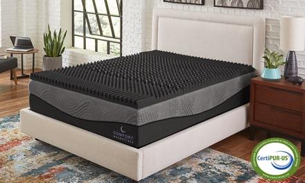 "Comfort Essentials 2.5"" 5-Zone Ebonite Memory Foam Mattress Topper"