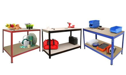 Heavy Duty Steel Workbench from £29.99 With Free Delivery (Up to 71% Off)