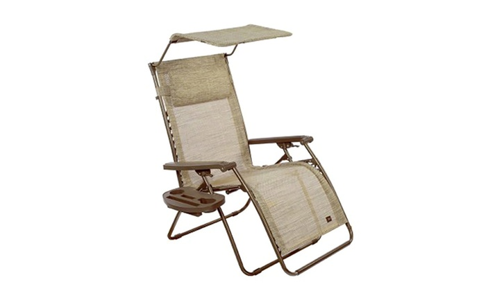 ... Bliss Deluxe XL Zero Gravity Recliner Chair With Canopy, Pillow, And  Tray Table: